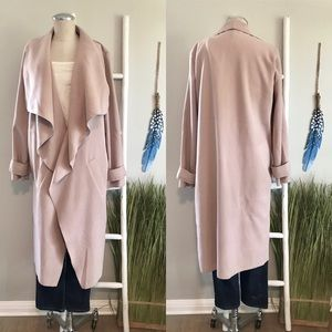 Missguided | Blush Oversized Waterfall Duster Coat